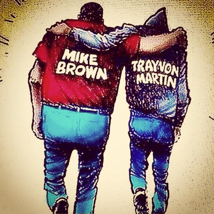 Trayvon Martin Mike Brown