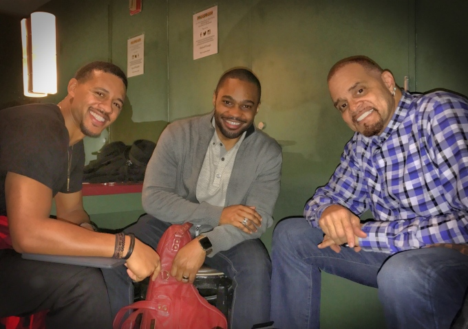 Celebrities Sinbad Tyrone Smith Chase Anthony Carolines nyc comedy