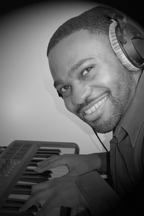 Tyrone Smith m-aduio Keyboard Recording photo black and white we