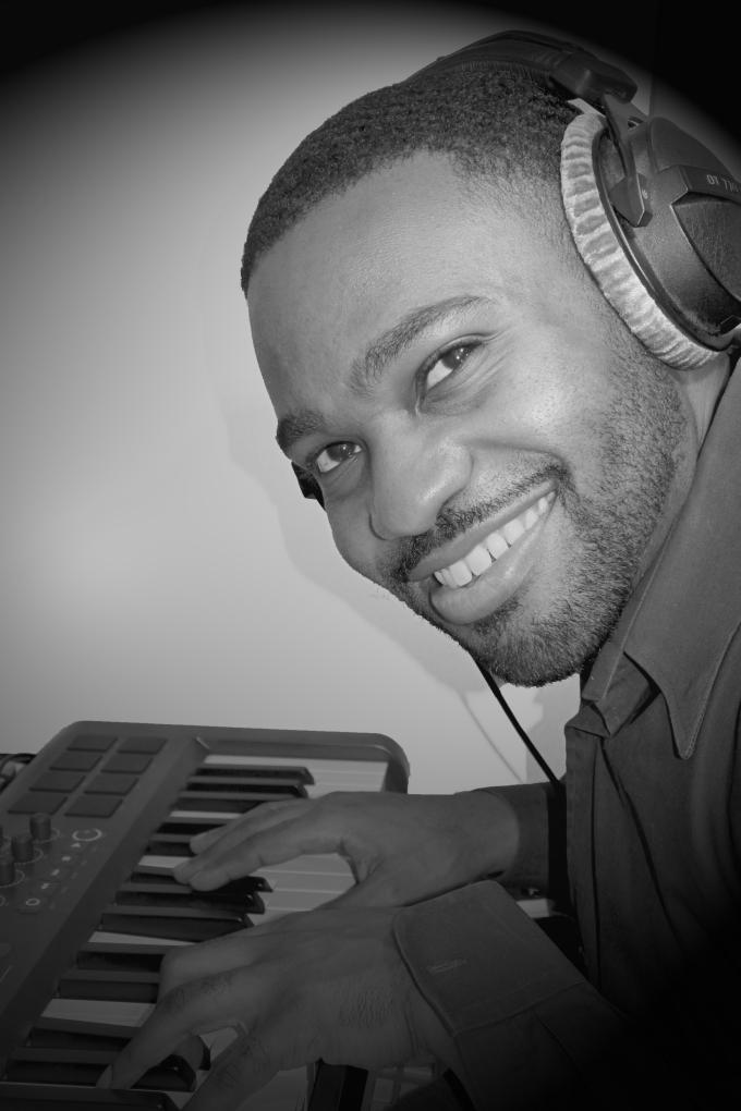 Tyrone Smith m-aduio Keyboard Recording photo black and white we