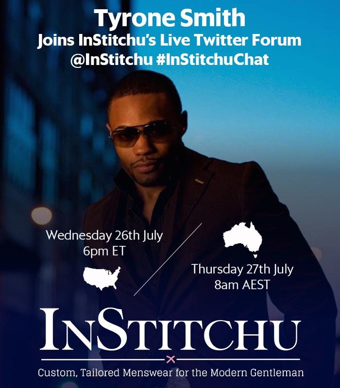 InStitchu tailored Menswear Twitter Forum celebrity musician producer influencer Tyrone Smith