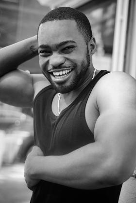 Mark Luckasavage captures candid shot Celebrity music producer Tyrone Smith Soho NYC G-Star Raw